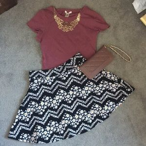 Dresses & Skirts - Crop Top and Skirt Combo!